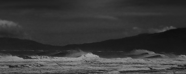 windblown wavesat Ocean Beach, San Francisco (2014)