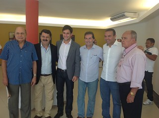 Jornalista Felinto Rodrigues, presidente da Assembleia RN, Ricardo Motta, vereador Rafael Motta, de Natal, deputado Kelps Lima e o ex-prefeito de Apodi, Dr. Pinheiro Bezerra