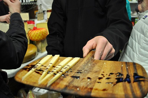 Cheese with Balsamic Vinegar at Di Bruno Bros. during a Stop with Urban Adventures 9th Street Italian Market Tour, Philadelphia