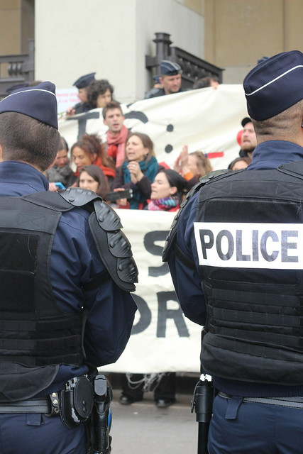 Les intermittents au Forum de Chaillot