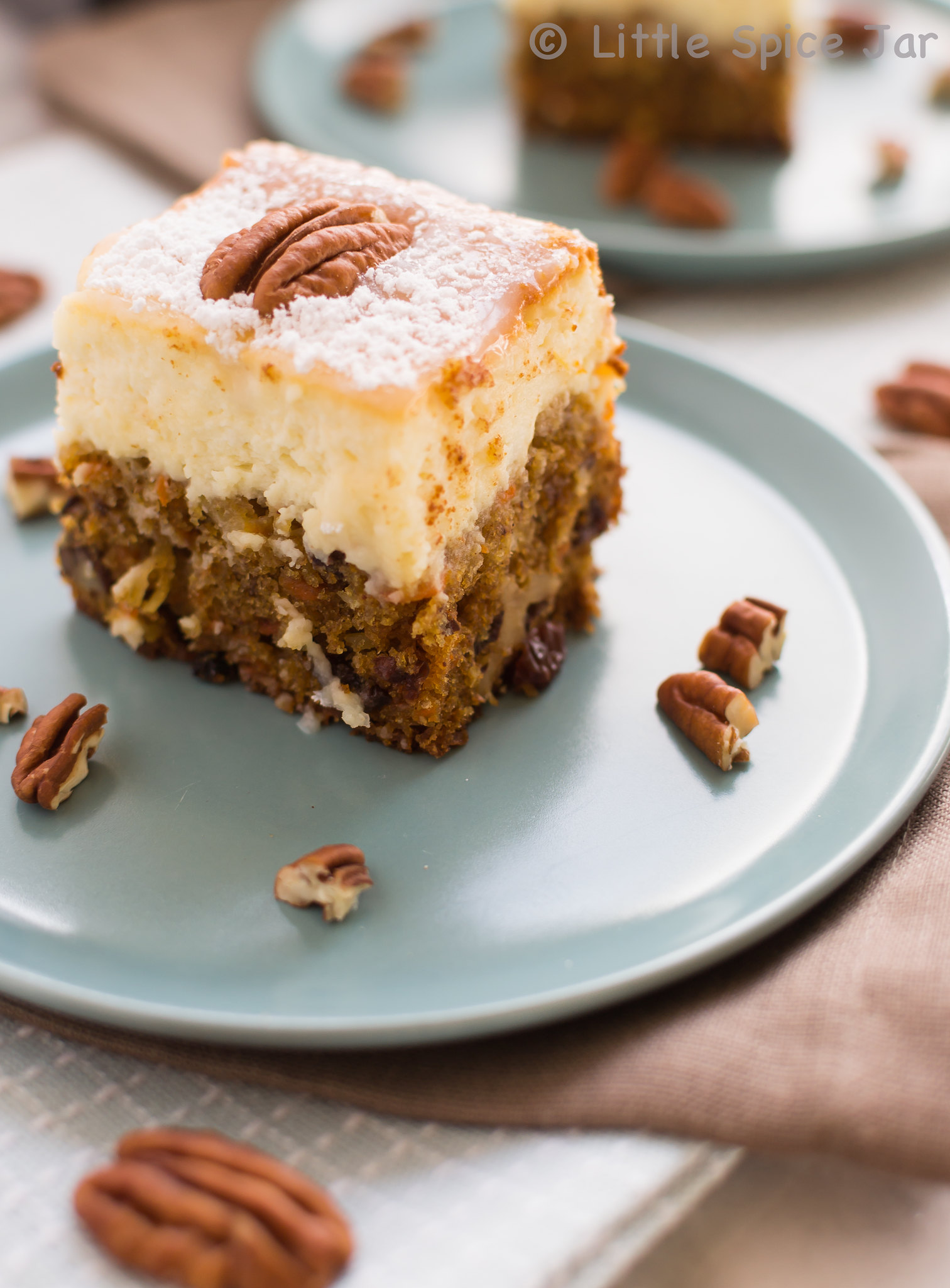 Carrot Cake Cheesecake Bars Z