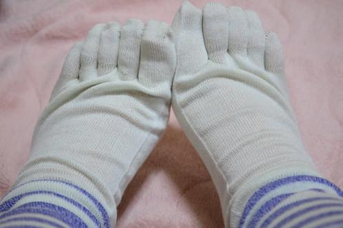 フェリシモ 冷えとり靴下 5本指