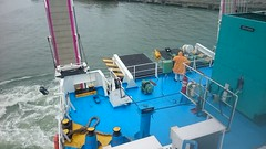 M/V St. Anthony de Padua's Aft a year after power generation upgrade.