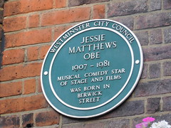 Photo of Jessie Matthews green plaque