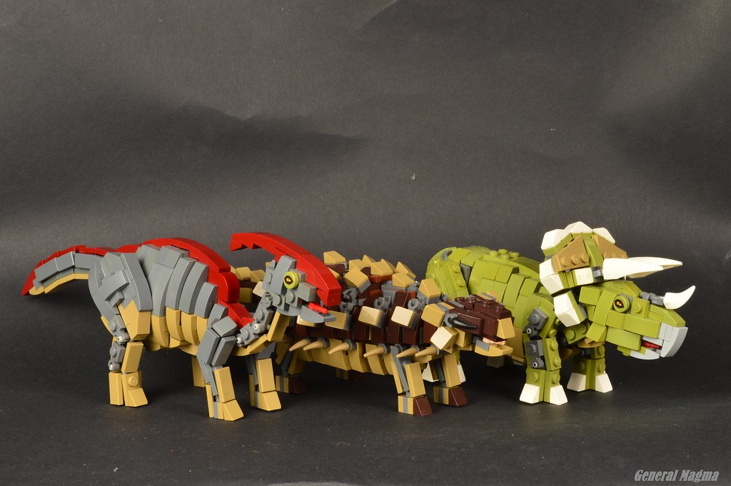 Jurassic Herbivores (custom built Lego model)