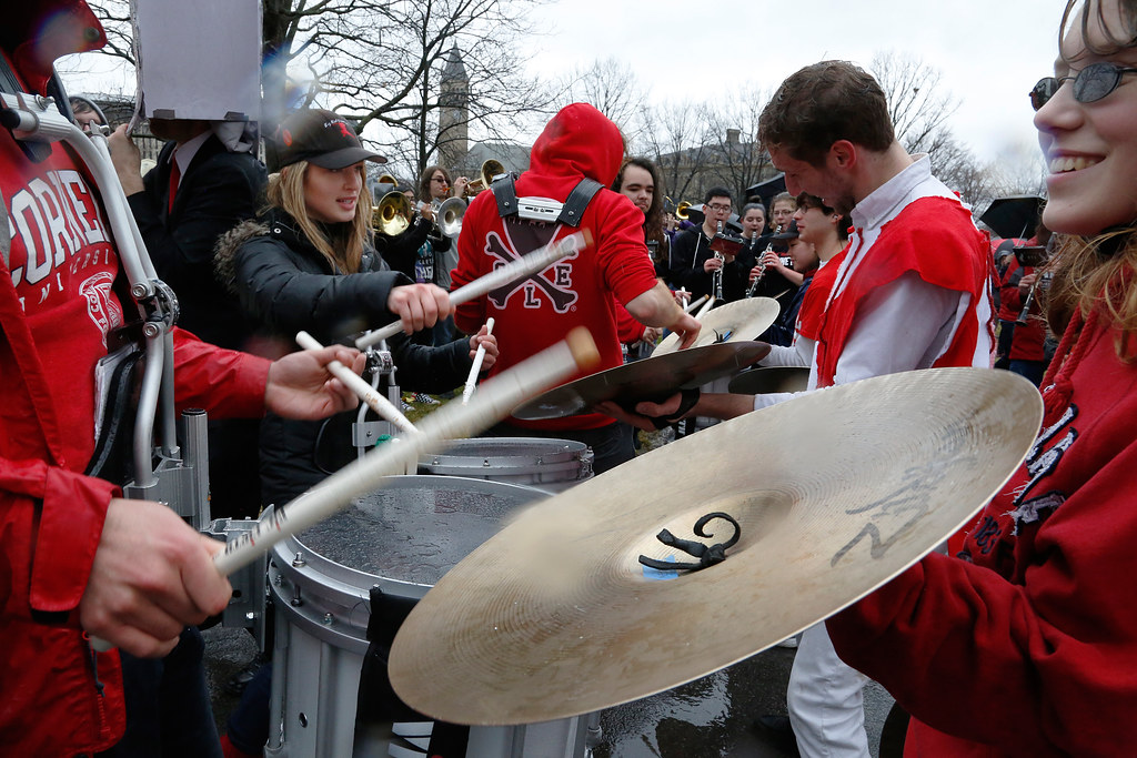 The Cornell Marching Band joined the parade this year.