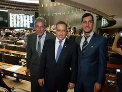 19 04 2017 - Oliveira - Paulo Abi-Ackel, ex prefeito de Oliveira-MG, Ronaldo Resende e Lucas Lasmar, secretário de Saúde