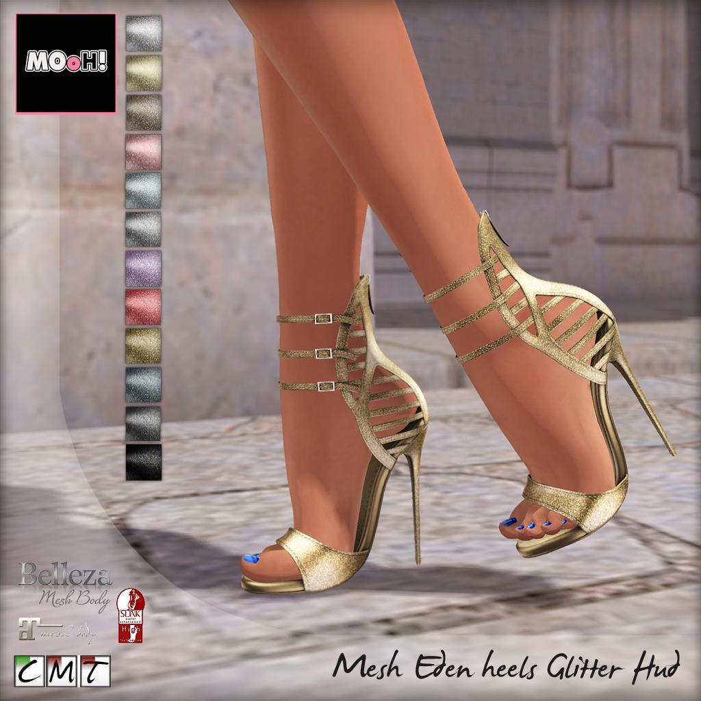 Eden heels glitter Hud - SecondLifeHub.com