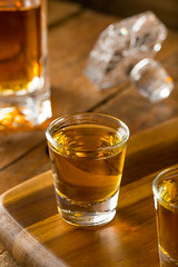 Group of Bourbon Whiskey Shots
