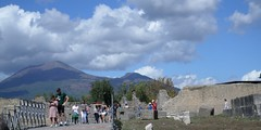 Mt Vesuvius as we were leaving Pompeii