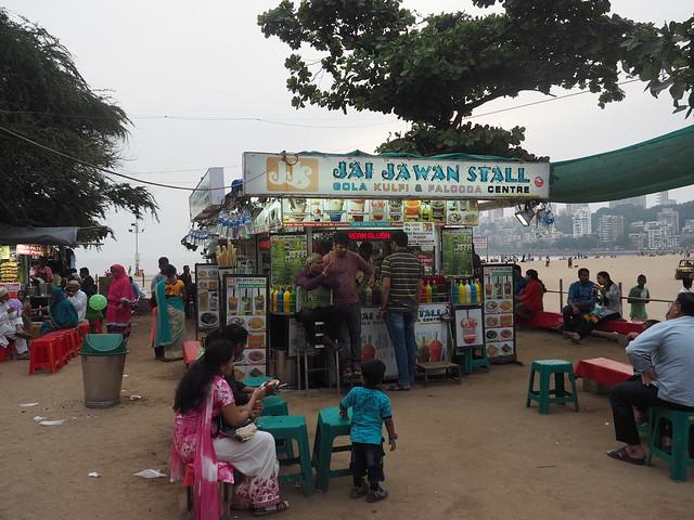 Food stalls on chowpatty