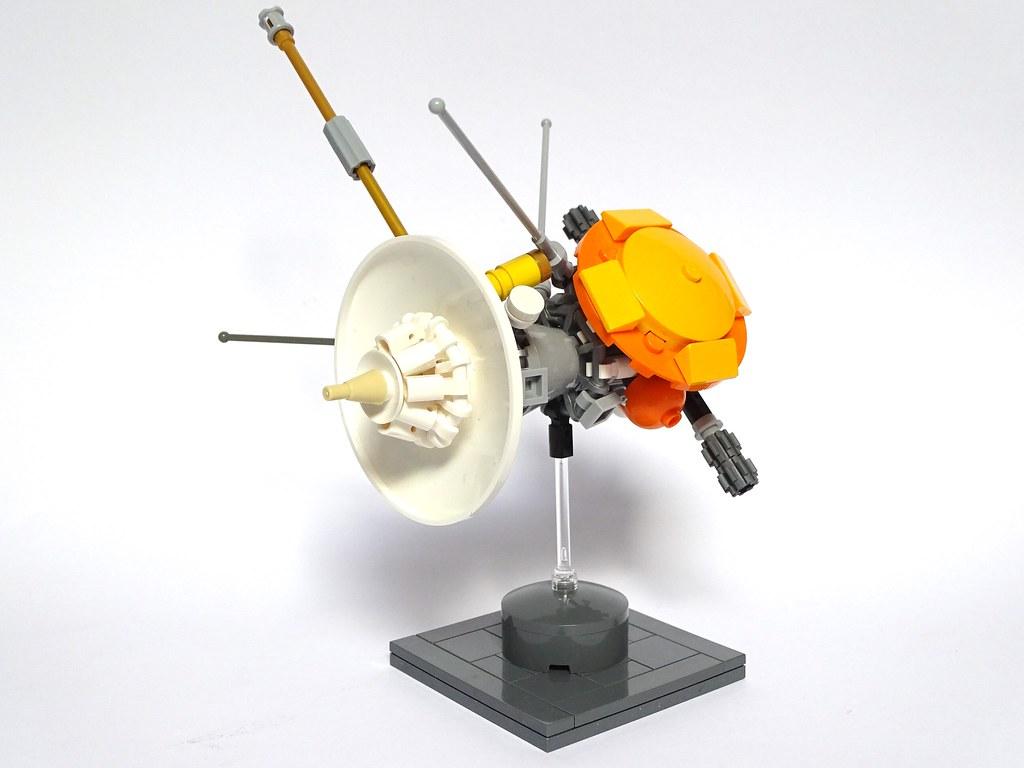 Cassini Huygens Spacecraft LEGO Model (custom built Lego model)