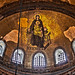 Virgin and Child mosaic, Hagia Sophia by sathellite