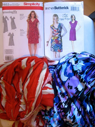 Simplicity 1653, Butterick B5749 & fabric from the Brooklyn Sewing Club fabric & pattern swap