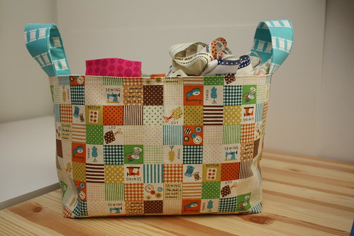 Kokka patchwork divided basket