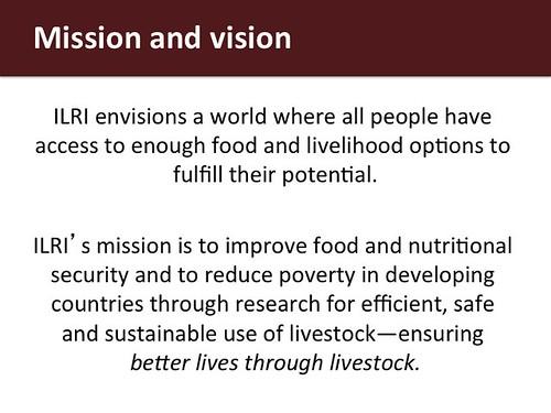 ILRI Vision and mission