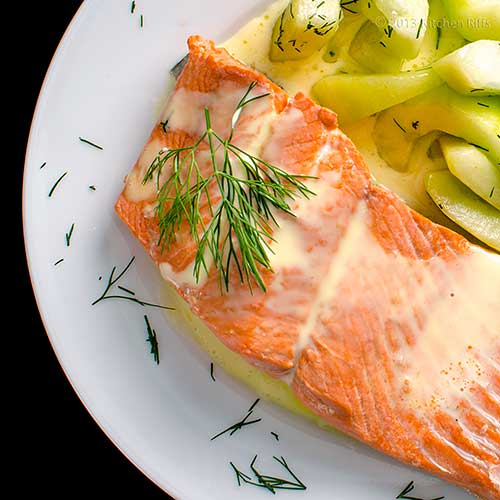 Kitchen riffs poached salmon for How to poach fish