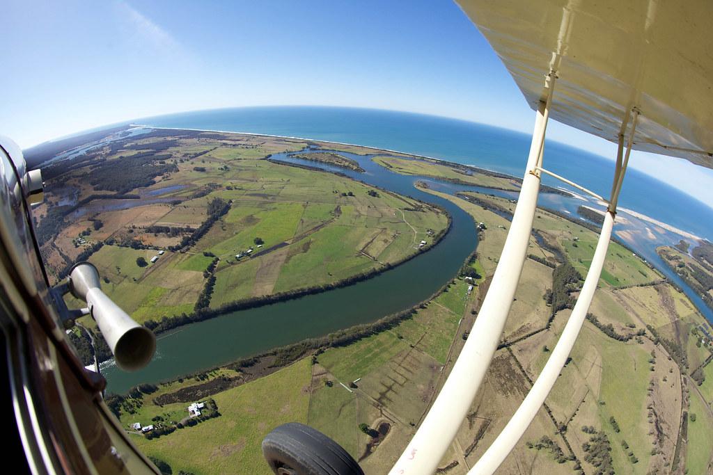 Flight over Taree