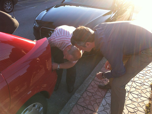 Spaniard and Brit fixing my car