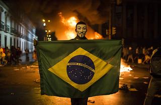 【焦点大图】抗议活动蔓延巴西