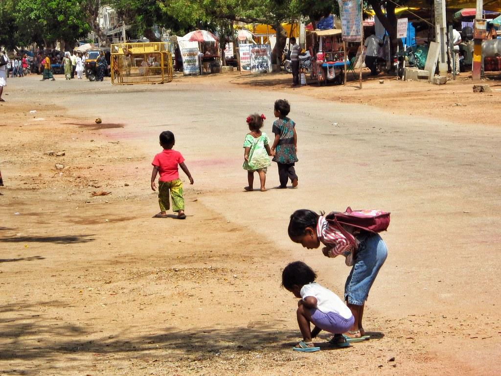 School children in Hampi