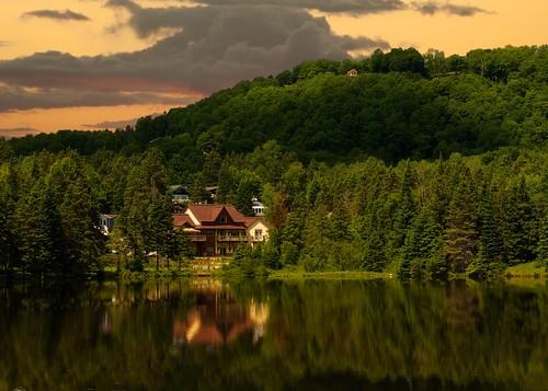 canada nature lac québec paysage saintsauveur arbresvélophoto