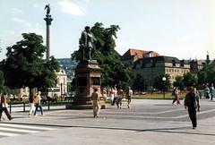 West Germany    -    Stuttgart    -   Schloss Platz with Altes Schloss    -   11 August 1985