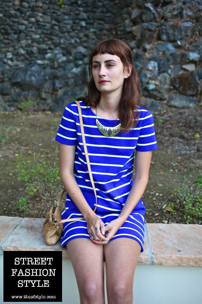 mod dress, straight bangs, leather loafers, turquoise rings, san francisco fashion blog, street fashion style, thesfstyle, sfstyle,