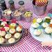 crepe paper cupcake flags
