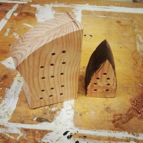 wonky mason bee houses