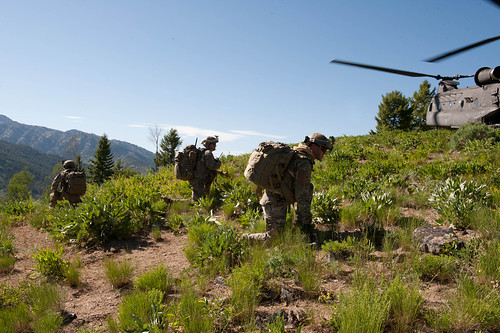 Air Support Operations Squadron train in Idaho Sawtooth National Forest by 124 Fighter Wing