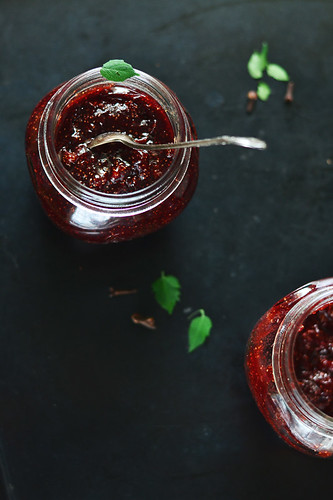 Strawberry Jam with Mulled Wine Spices
