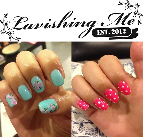 Mintsic lavishing me nails turquoise floral and minnie mouse lavishing me nails prinsesfo Choice Image