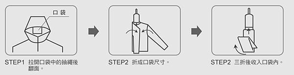 拍手 - 抗UV外套收納方式