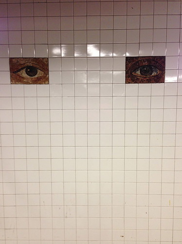 The eyes have it, Fulton St.