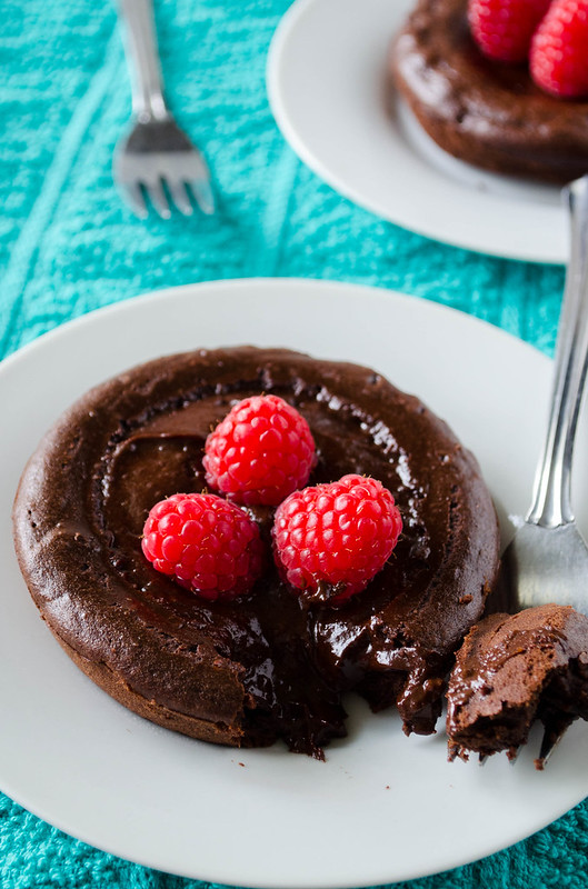 Chocolate Lava Cakes for Two (Gluten Free)