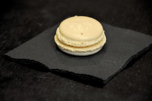 Macaron med hvid trøffel