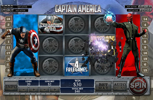 free Captain America - The First Avenger bonus game