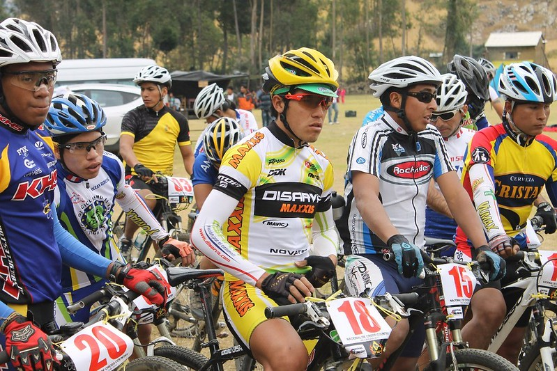 Waiting for the off in the Cross Country race at the Festival del Andinismo