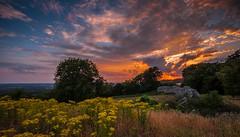 Sunset at Thurnham Castle