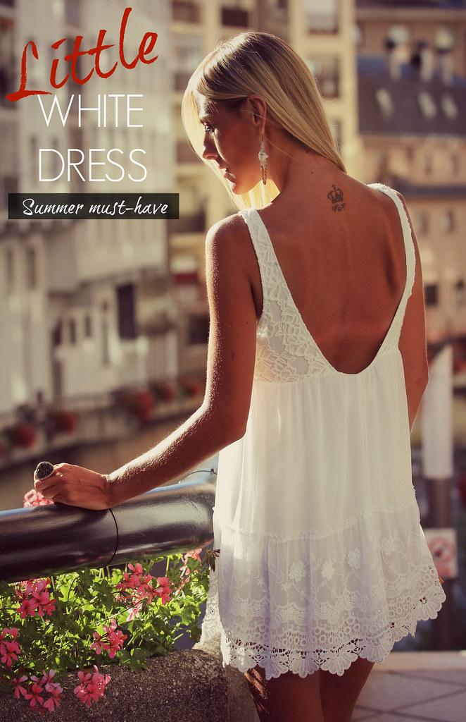 style lover abercrombie white dress XV