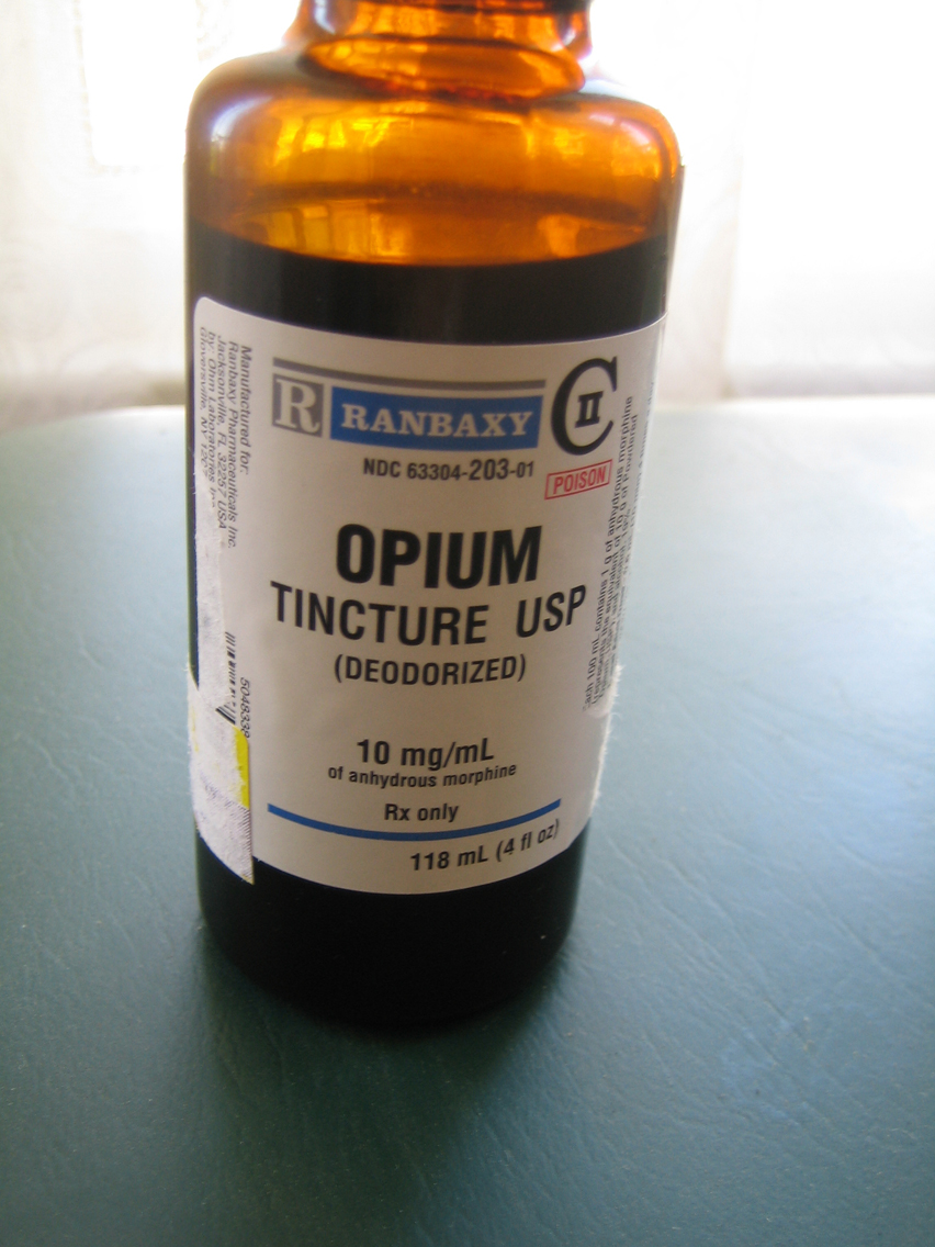 opium tincture 10mg/ml Ranbaxy Labs