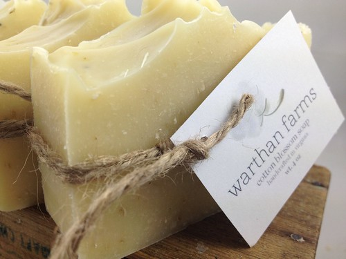 Cotton Blossom Soap for Warthan Farms Photography by The Daily Scrub