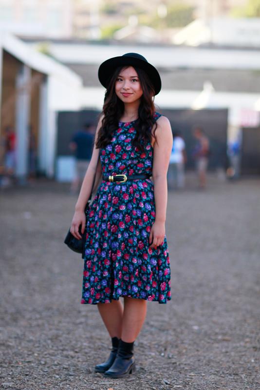 hat_floral_fyf FYF Fest, L.A. State Historic Park, LA, music, street fashion, street style, women