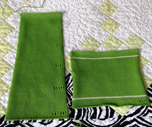 Lime green swatches