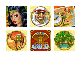 free Desert Treasure 2 slot game symbols