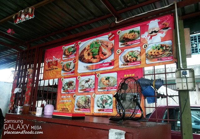 san peng prawn mee stall