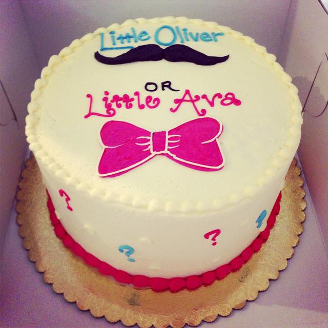 Society Bakery Gender Reveal Cake | Flickr - Photo Sharing!