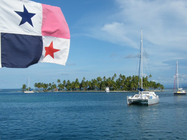Panama Flag in San Blas