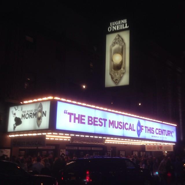 Book of Mormon on Broadway